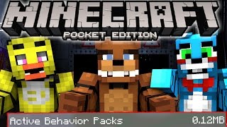 MCPE Five Nights At Freddy's ADDON and BEHAVIOR PACK! MCPE FNAF Addon Pack Minecraft Pocket Edition