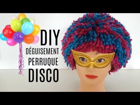 DIY DÉGUISEMENT HALLOWEEN PERRUQUE DISCO