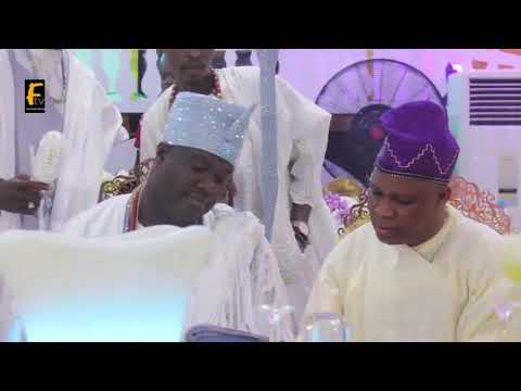 Arrival Of Arole Oodua Onirisa At Fatai Akorede Akamo The Olu Of Itori As He Roll Out The Drums
