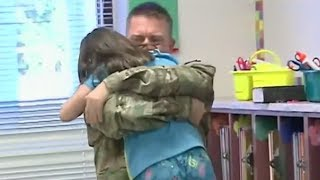 A soldier surprised his daughter at Huebner Elementary after getting back from a one-year deployment to Afghanistan. Click to SUBSCRIBE for more awesome Surp...