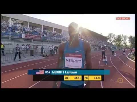 Steven Gardiner, LaShawn Merritt (400m) a Gyulai István Memorial 2015-ön