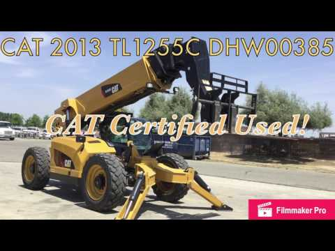 CATERPILLAR TELEHANDLER TL1255C equipment video 9eMeJOyidVM