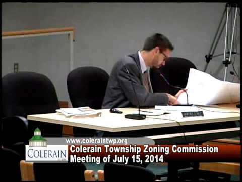 Colerain Township Zoning Commission Meeting of July 15, 2014