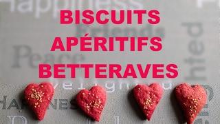 Des biscuits apéro tout roses