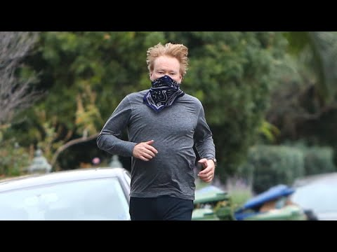 Conan O'Brien Makes A Run For It In Brentwood