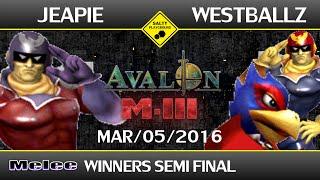 Still one of the most fun sets to watch. Jeapie (Capt. Falcon) vs. Westballz (Falco, Capt. Falcon)
