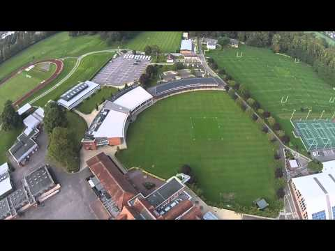 An eye in the sky video of St George's College, Weybridge
