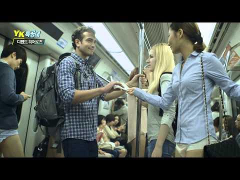 好害羞 韓國流行只穿尿布就上街?