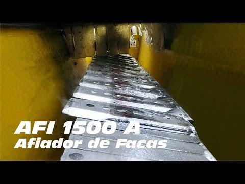 Afiador de Facas AFI 1500 A - Afiando facas de colheitadeira de cana