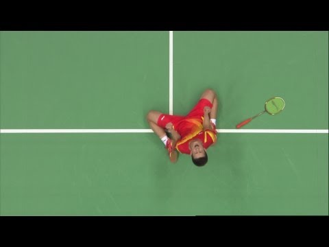 Chen Long (CHN) Wins Badminton Singles Bronze v Lee Hyun Il - London 2012 Olympics