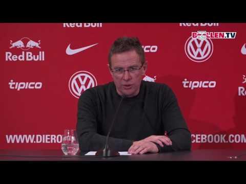 Fußball: RB Leipzig - Pressekonferenz vor dem Spitzen ...