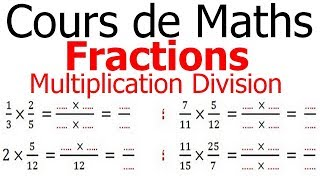 Maths 6ème - Fractions multiplication et division Exercice 4