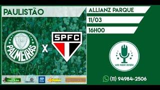 1º Tempo do jogo Palmeiras x São Paulo. Campeonato Paulista. Facebook: facebook.com/webradioverdao Twitter: twitter.com/webradioverdao Instagram: ...
