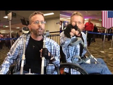 Wheelchair-bound racist goes nuclear at airport because he heard a man speak Spanish - TomoNews