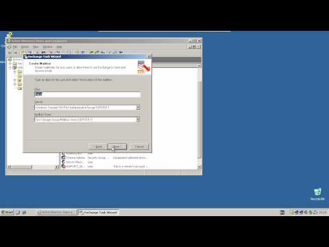Creating Exchange Mailboxes - Windows Server 2003 R2/ Exchange Server 2003