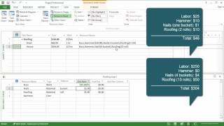 Sync MS Project Materials and Costs, Part 1