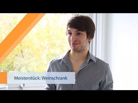 Mein Meisterstück - Weinschrank - Meisterschule Schreiner Würzburg