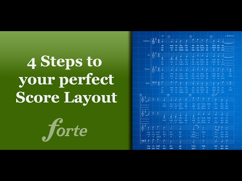 4 Steps to your perfect Score Layout