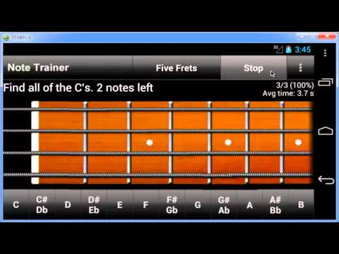 Video of Bass Guitar Note Trainer