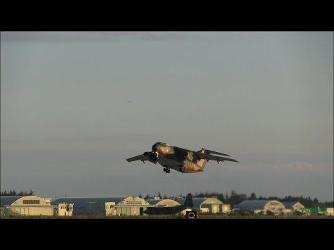 Military Cargo aircraft.Evening...