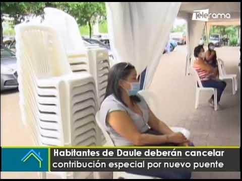 Habitantes de Daule deberán cancelar contribución especial por nuevo puente