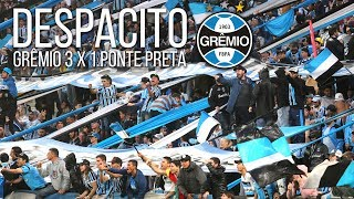 Torcida do Grêmio cantando Despacito na vitória contra a Ponte Preta. Festa na Arena. Brasileirão 2017.Fotos e vídeos do jogo: http://www.ducker.com.br/2017/07/16/gremio-3-x-1-ponte-preta/Te inscreve no canal: https://www.youtube.com/rduckerSegue o site em todas as plataformas:Facebook: https://www.facebook.com/ducker.com.br/Twitter: https://twitter.com/Ducker_GremioInstagram: https://www.instagram.com/ducker_gremio/