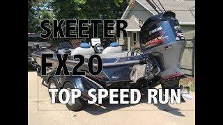 3. Skeeter FX20 Bass Boat Top Speed Run 75mph+
