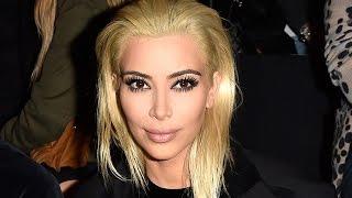 Kim Kardashian PLATINUM Blonde Hair!
