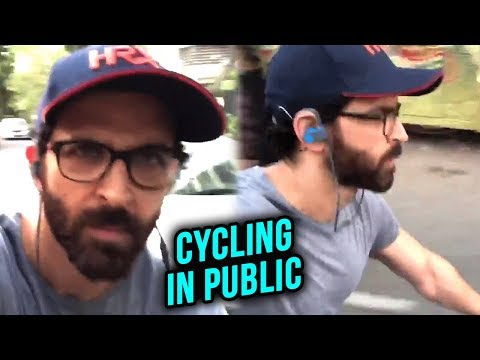 Hrithik Roshan Accepts Fitness Challenge, Cycles o
