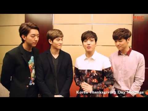 [CNBLUE] 2013 Message for Thanksgiving Day