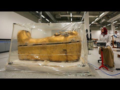 Der Sarg von Tutanchamun wird restauriert - zum ersten Mal seit seiner Entdeckung vor fast 100 Jahren