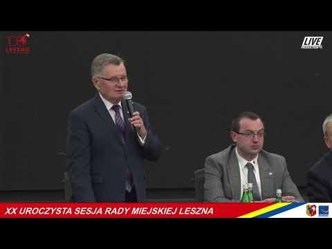 Wideo1: XX Sesja Rady Miejskiej Leszna