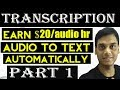 Transcription: Automatically transcribe video to text Part 1 | Youtube | Helping Abhi