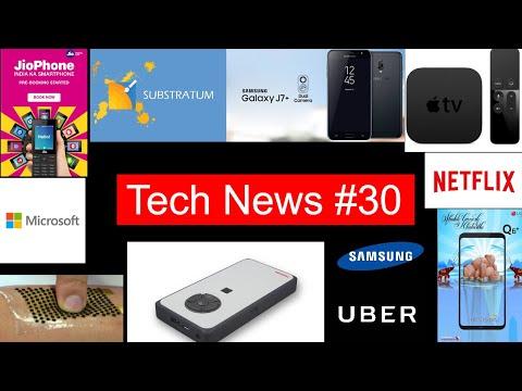 Tech News #30 Jio Phone PerBooking,S8+ Price Cut,LG Q6+,UberBLACK,4K Apple TV, J7+,Locky ransomware,