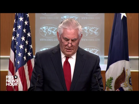 WATCH LIVE: Rex Tillerson speaks after President Trump fires him from State Department