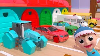 Learn Shapes with CarsTruck - Rectangle Tyres Assemby - Learn Colors Cartoon Animation for Children