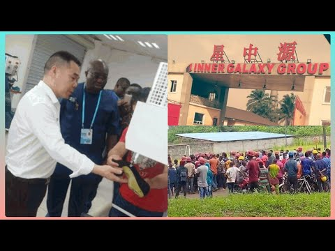 BURSTED! SEE CHINESE COMPANY IN ABIA STATE WHERE NIGERIANS ARE ŚŁÀV£Ś, WORKER'S LEG ÇŪŤ 0FF |SEE WHY