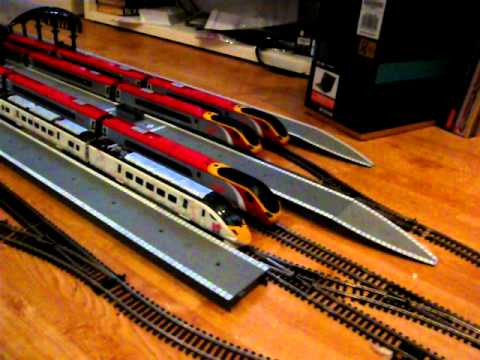 HORNBY VIRGIN  PENDOLINO & HITACHI 395 OLYMPIC LIVERY
