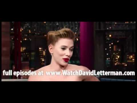 Scarlett Johansson in Late Show with David Letterman December 12, 2011