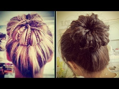 bun - Like and favorite for more ♥ Learn how to do more cute hairstyles: http://www.youtube.com/playlist?list=PLD4D5DE6CCCF00AF4 Hey guys, today I'm going to teach...