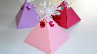♥︎ DIY ♥︎ What could be more delightful than receiving a gift in a handmade paper box? Here is a tutorial for easy pyramid gift box; simple to make for last minute gift and different from the usual gift boxes. No need to print any template! Always happy to hear from you! Please share, like and subscribe. Thanks for watching.❄ SUBSCRIBE HERE ➜ https://www.youtube.com/subscription_center?add_user=fixitsamo❄ WATCH OTHER VIDEOS:- DIY Easy Triangle Paper Box:  https://youtu.be/HUlN_ZTDaNY- DIY Easy Envelope: https://youtu.be/1VFSwRWw6IU- DIY Rectangular Paper Box: https://youtu.be/79Aa1DoTI1A- DIY Transparent Stickers Labels:  https://youtu.be/wjhNzORoV70- DIY Sliding Gift Box: https://youtu.be/L89Kl6ZcJtM❄ ALL VIDEOS HERE ➜ http://www.youtube.com/user/fixitsamo/videos❄ FOLLOW US:INSTAGRAM ➜ https://www.instagram.com/fixitsamo FACEBOOK ➜ https://www.facebook.com/fixitsamo PINTEREST ➜ https://www.pinterest.com/fixitsamo T W I T T E R ➜ https://twitter.com/fixitsamoGOOGLE+ ➜ google.com/+fixitsamoYour comments, shares and all other interactions are very welcome. Thanks!