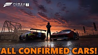 These are all of the cars we know about so far in Forza Motorsport 7's car list! Link below to the forum thread!https://forums.forzamotorsport.net/turn10_postst99201p4_FM7-Car-List.aspx?g=posts&t=99201&p=4&=Don't forget to click that like button and comment below! :) My Instagram: http://instagram.com/forestbyrd9700My Steam Group: http://steamcommunity.com/groups/tc9700Facebook - http://www.facebook.com/TC9700GamingTwitter - https://twitter.com/#!/TC9700GamingGoogle+  https://plus.google.com/110153156801397232899Banner by - http://nitrate.carbonmade.com/Forza Community - https://plus.google.com/communities/113796744105821291427My Forza Gallery! http://forzamotorsport.net/en-us/Gallery.aspx?gt=Tomcat9700Thanks again for watching :)