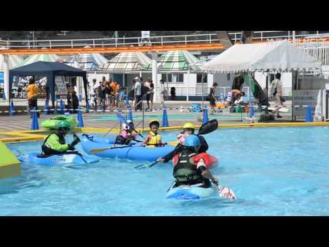 姫路市民プールでマリンスポーツフェス