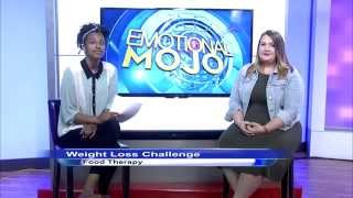Intern host, Habii Yabii, fills in for Emotional Mojo co-host Tara Gidus in this intern addition of Food Therapy, our weight loss challenger Ashley Dipaolo checks in with Tara to show off her weight-loss progress in week 7 of her journey to ONE-derland.Join us as we welcome our brave weight loss challenger, Ashley DiPaolo.Follow Ashley's journey on her YouTube channel: http://bit.ly/1CxuPR0Get MORE Emotional MOJO:Twitter https://twitter.com/EmotionalMojoFacebook https://www.facebook.com/EmotionalMojoGoogle+ https://plus.google.com/+Emotionalmojo/postsArticle: http://emotionalmojo.com/weight-loss-challenge-week-6-ashley/