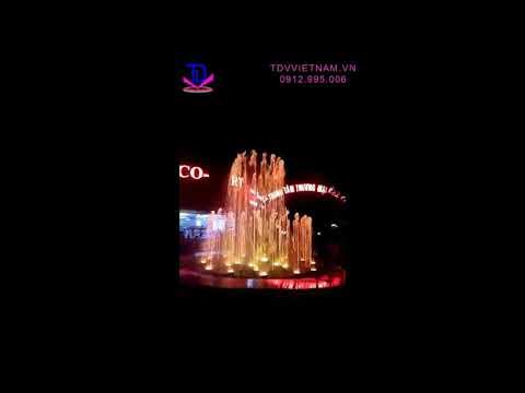 Thi công lắp đặt Đài phun nước TTTM Bình An, Sóc Sơn, Hà Nội