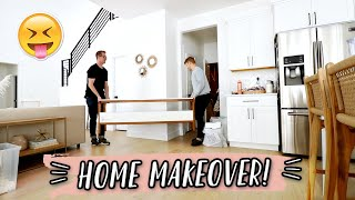 HOME MAKEOVER DAY 2! STYLING & ORGANIZING by Aspyn + Parker