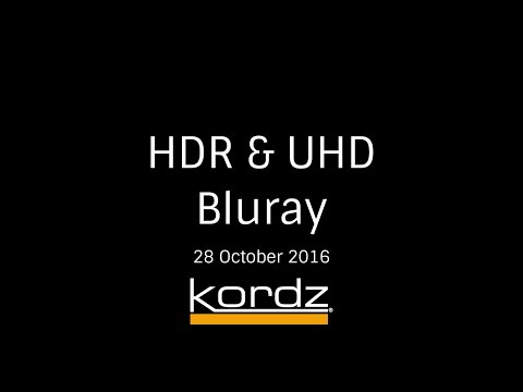 HDR and UHD Bluray [28 October 2016]