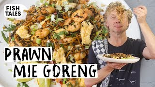 Mie goreng with WAKAME and PRAWNS | Bart van Olphen by Bart's Fish Tales