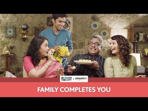 FilterCopy   Family Completes You   Ft. Deepika Amin, Anud Singh Dhaka, Ritika and Ivan видео