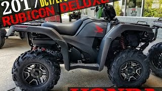 10. 2017 Honda Foreman Rubicon Deluxe 500 DCT / EPS ATV | Walk-Around Video (Matte Gray TRX500FA7H)